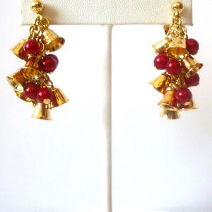 Vintage AVON Jingle Bells Clip On Earrings